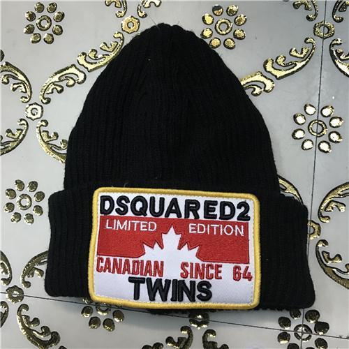 DSQ cotton cap-chong Dsq icon hats Knitted hat Beanie wool winter Cap 9