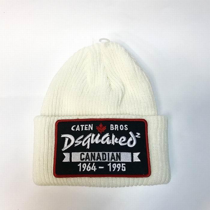 DSQ cotton cap-chong Dsq icon hats Knitted hat Beanie wool winter Cap 10