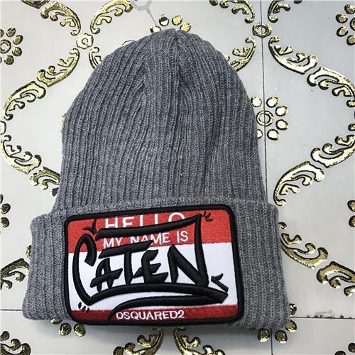 DSQ cotton cap-chong Dsq icon hats Knitted hat Beanie wool winter Cap 12