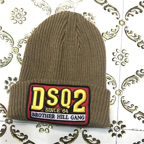 DSQ cotton cap-chong Dsq icon hats Knitted hat Beanie wool winter Cap 14