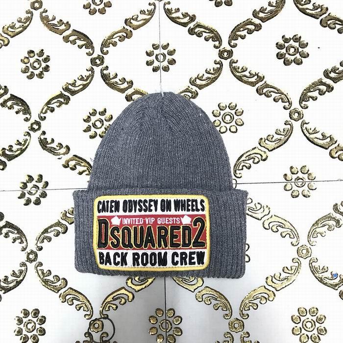 DSQ cotton cap-chong Dsq icon hats Knitted hat Beanie wool winter Cap 15