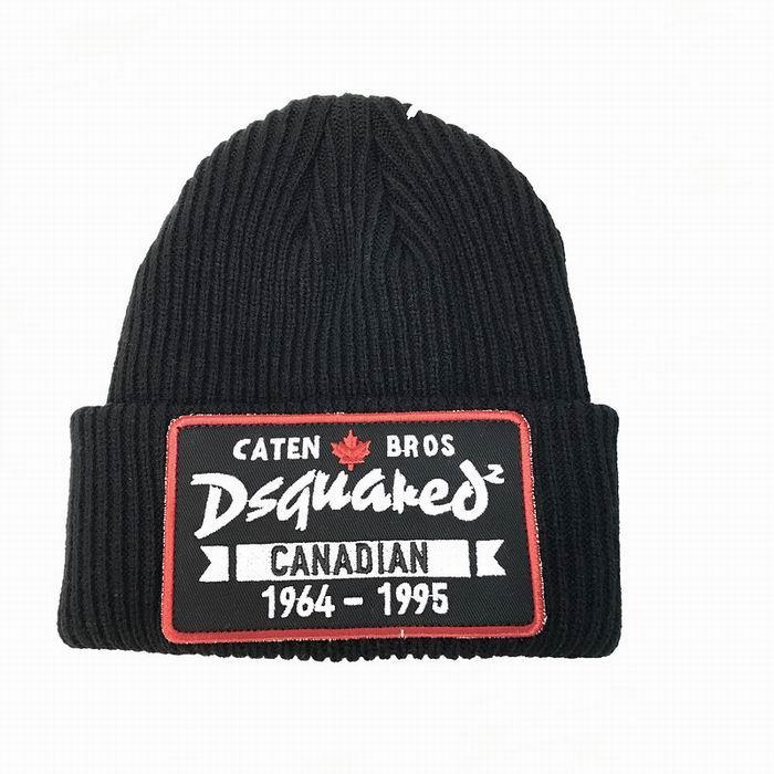 DSQ cotton cap-chong Dsq icon hats Knitted hat Beanie wool winter Cap 17
