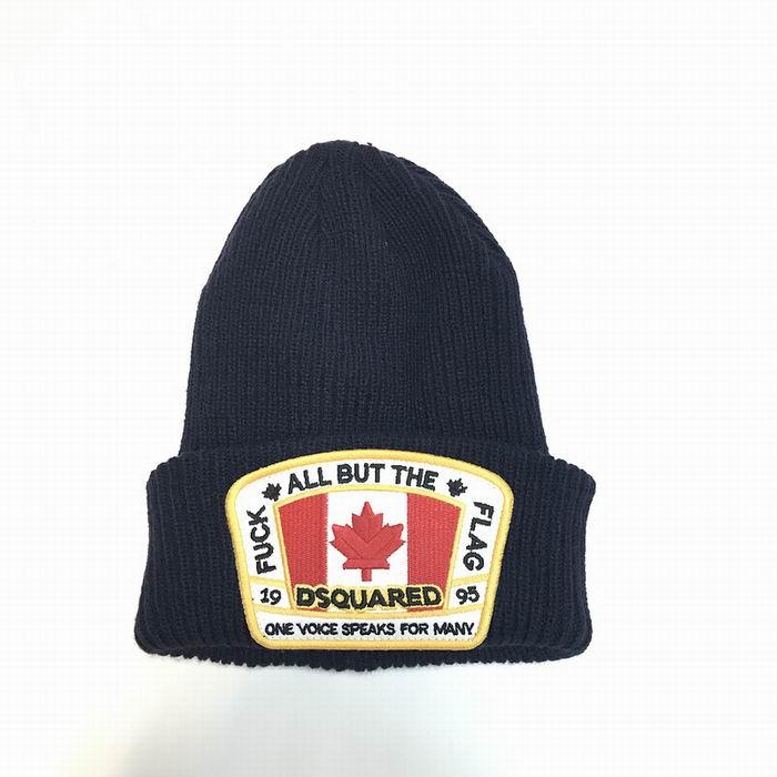 DSQ cotton cap-chong Dsq icon hats Knitted hat Beanie wool winter Cap 18