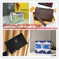 Louis Vuitton DAMIER COBALT RACE POCHETTE VOYAGE MM Cowhide-leather LV CLUTH