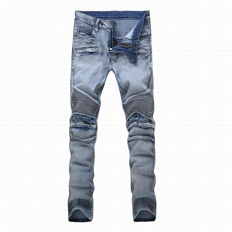 Balmain jeans man long pant wash skinny jean pants fashion balmain trousers