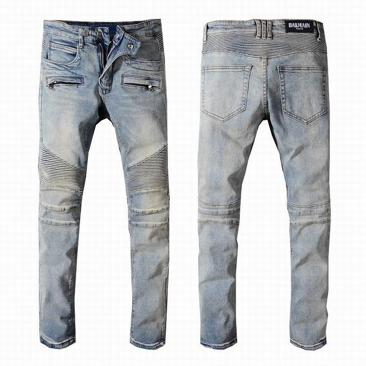 Balmain jeans denim women jeans skinny fit  balmain jeans men pants 7