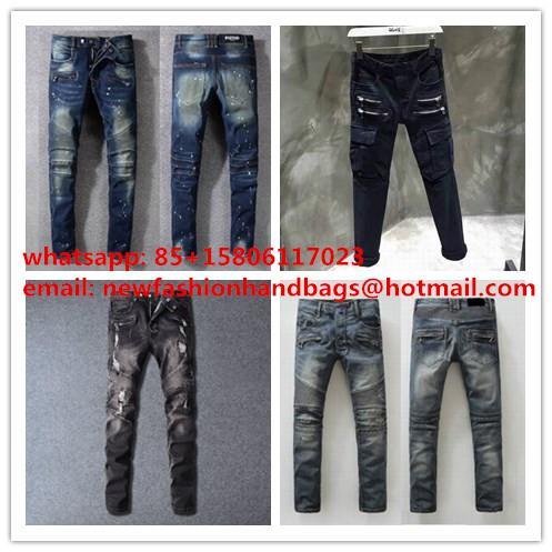 Balmain Black Jeans Wholesale Jeans brand luxury women's Pants