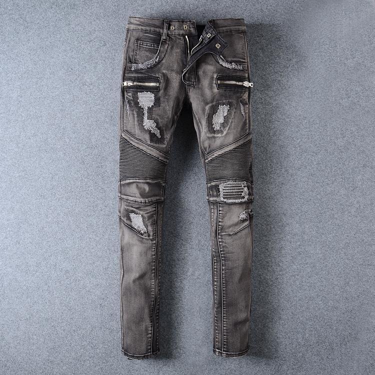 Balmain jeans denim women jeans skinny fit  balmain jeans men pants 19