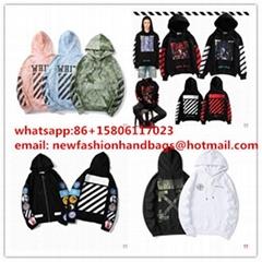 0ff white hoodies splicing sleeves bape jackets shark coat zip up hoodies