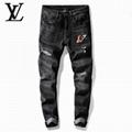 louis vuitton jeans denim men jeans slim fit  LV jeans men pants