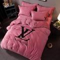 Louis vuitton duvet cover lv monogram bed sheets LV satin bedding sets duvet set