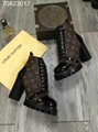 LV shoes Louis Vuitton real leather ankle boot laureate platform desert boots