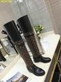 polar flat knee high boots landscape boots  LV boots heeled boots  monogram shoe