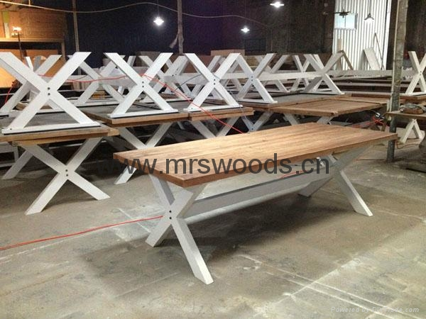 french country style reclaimed wood dining table 1