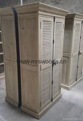 recycled fir wooden shutter door bedroom