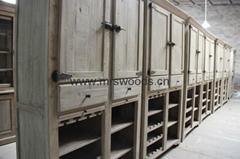 reclaimed wooden living room cabinet