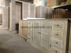 recycled wood vanity