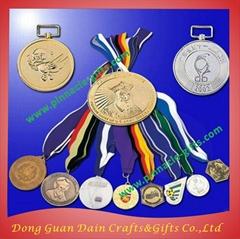 gold football metal antique copper medals