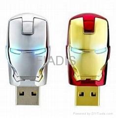 Factory Offer-Iron Man USB flash drive Genuine 32GB USB pendrive U disk
