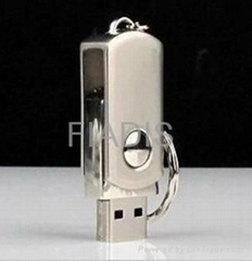 USB flash drive 64GB stainless steel U Disk silver Card Memory Stick Drives