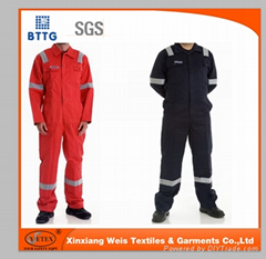 100% cotton fire resistant FR coverall