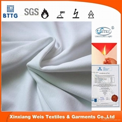 100% cotton flame retardant knitted