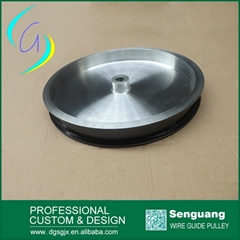 Ceramic coated wire cable drawing pulley
