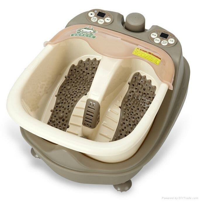 Steam heating split style foot massager 1