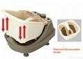 Steam heating split style foot massager 3
