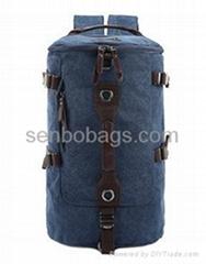 Canvas Bag with Nice Design Prevelant Rucksack Double Shoulders Duffel Bag Backp