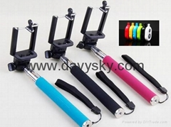 Selfie Monopod with Separate Bluetooth Controller
