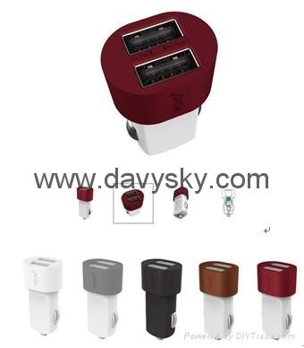 2.5 A 双USB车载充电适配器 1