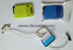 蘋果4、蘋果5、安卓三盒一收縮拉伸充電數據線