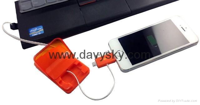 苹果4、苹果5、安卓三盒一收缩拉伸充电数据线 2