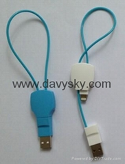 KAYSHA Key Shape Charging Data Sync Cable, USB To Lightning