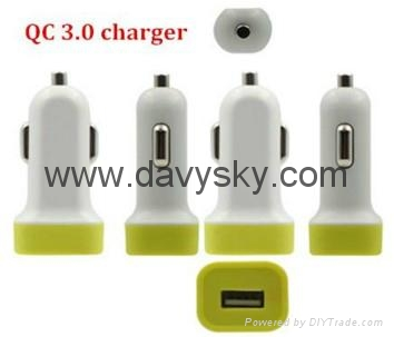 QC 3.0 Quick Charger,fast and safety Car Charger Adapter 4