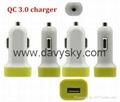 QC3.0 快充车充车载充电器 4