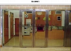 Glass fire door