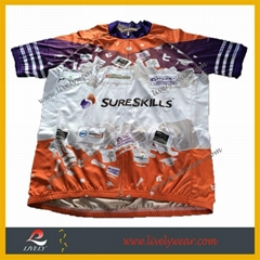 Men's Full Sublimation Printing High Quality Wholesale Cycling Jersey