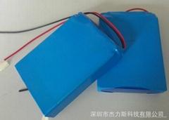 強光探照燈專用聚合物鋰電池組12V/5000mAh