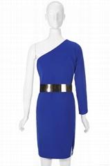 2015-2016 春夏高质量英国风单肩性感PARTY 礼服