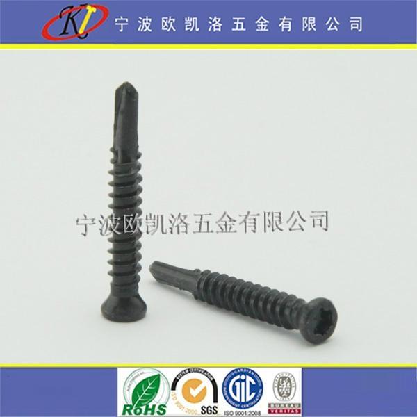 塑木地板用304不鏽鋼鍍黑鋅沉頭梅花鑽尾螺絲 1
