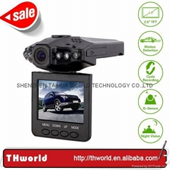 "factory sale H198 car camcorder with 2.5""  TFT LCD 270 degree Rotate Display"