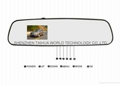 Wholesale rear mirror camera L3000 car dvr with Generaplus 6624+OV7670 sensor