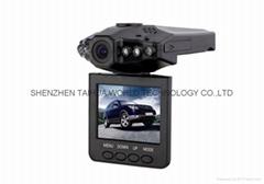 Cheapest car camera H198 dvr black box recorder for car with 6 pcs IR lights