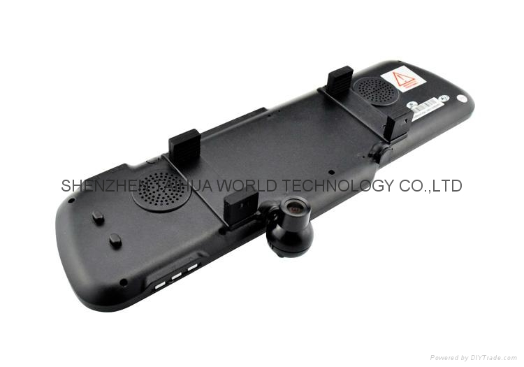 DUAL LENS camera X6 car rearview mirror dvr camera with 4.3'' TFT LCD Display 7