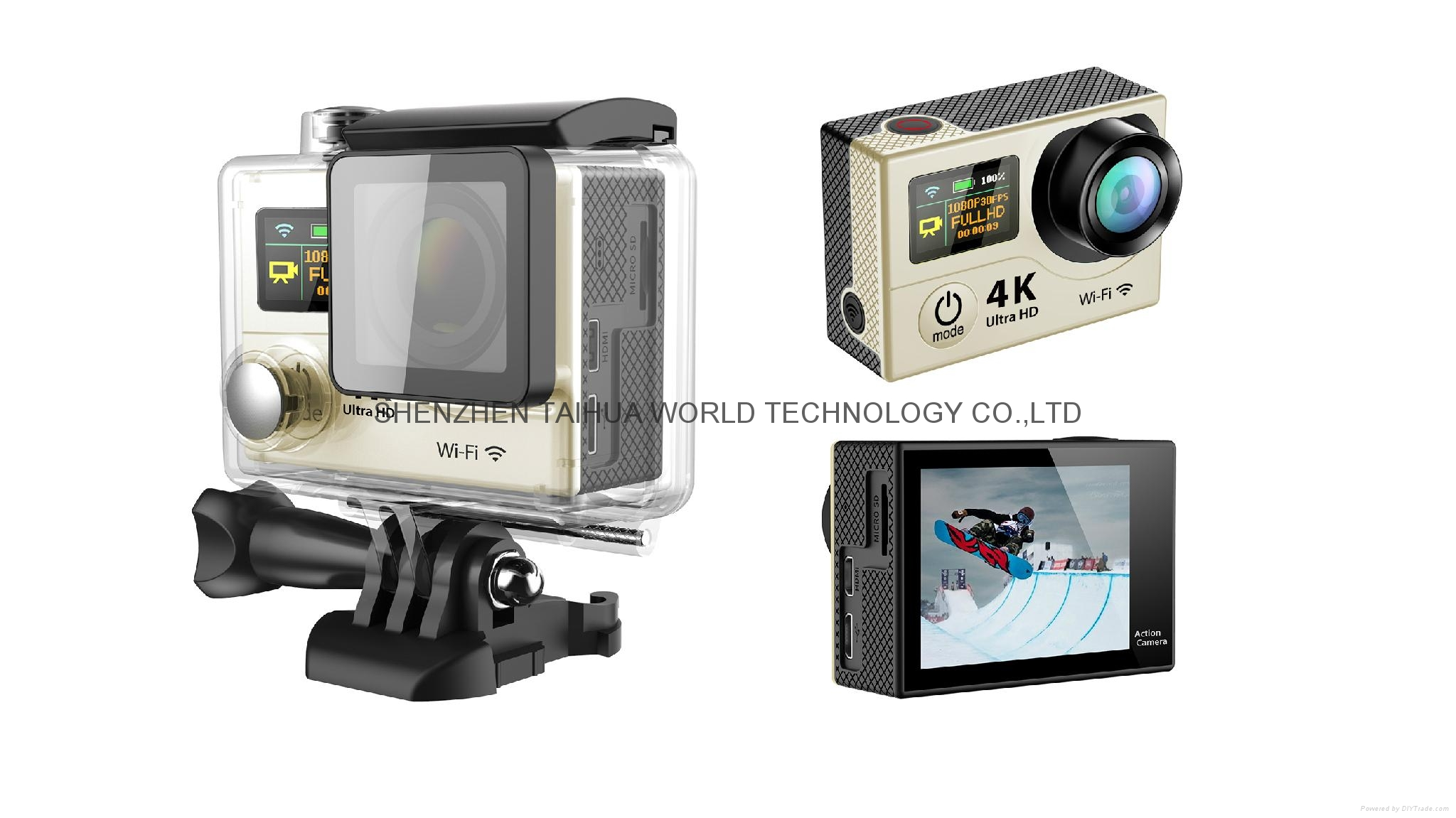 HOT video camera underwater hd H3 WIFI 4K action camera sports camera 4