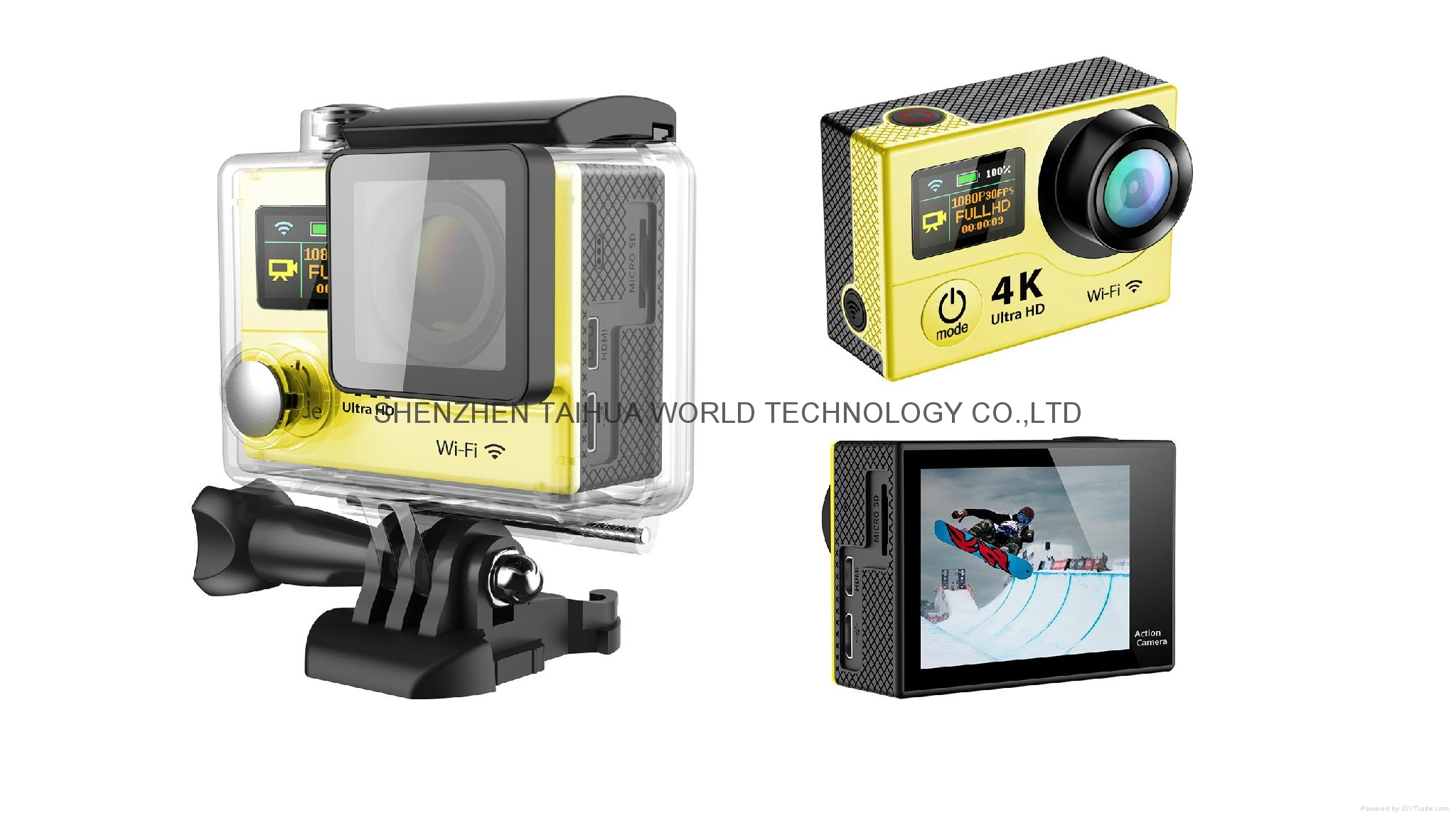 HOT video camera underwater hd H3 WIFI 4K action camera sports camera 7