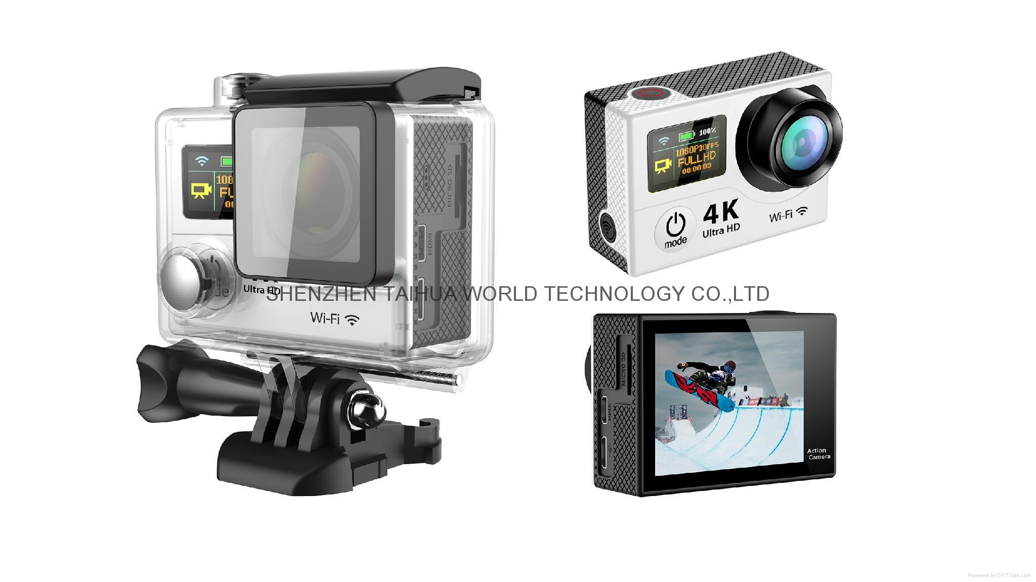 HOT video camera underwater hd H3 WIFI 4K action camera sports camera 9