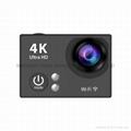 Hot video camera waterproof hd  sports camera H2R remote control 4K action cam 4